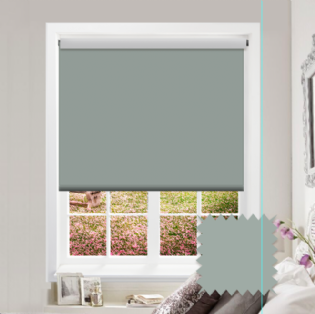 Green Roller Blind - Bahamas Pale Palm